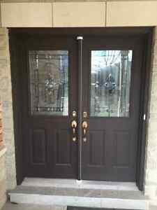 Metal front entry doors