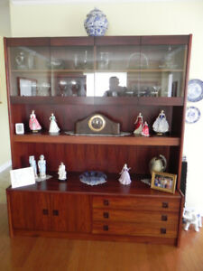 ROSEWOOD WALL UNIT / CHINA CABINET