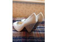 Benjamin adams rhiana wedge heel Ivory wedding shoes