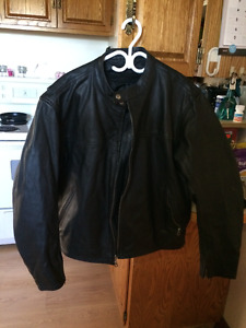 1 ladies and 1 mens leather jackets