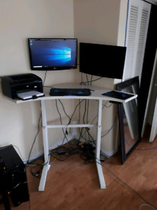 electronic sit stand desk