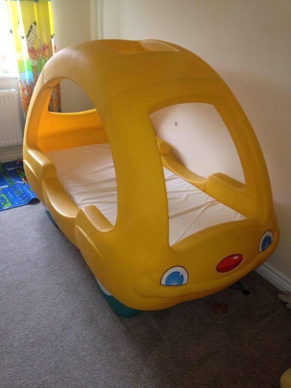 YELLOW BEETLE LITTLE TIKES CAR BED. YELLOW BEETLE LITTLE TIKES CAR BED   in Bootle  Merseyside   Gumtree