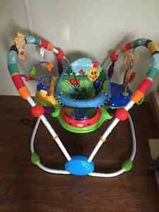 Like new! activity jumper, swing and bouncer , playmat