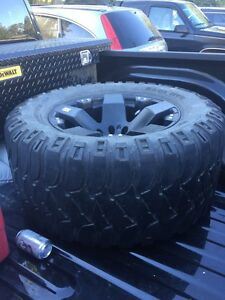 "Rockstar Rim with 36"" x 12.5"" Mickey T tire"