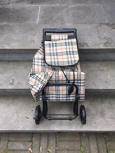 Grocery / Shopping Trolley Burberry Pattern