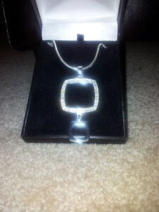 Beautiful Two Tier Square designer necklace $1525.00 value