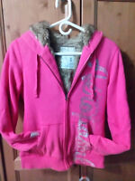 Aeropostale zipper hoodie faux fur lined - Excellent - size med