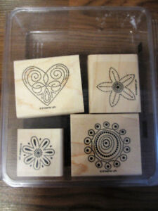 Stampin' Up! Wood stamps $6