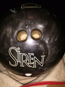 Vintage Siren Bowling Ball and Polishing Bag