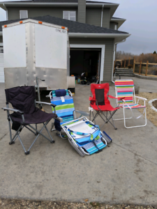 5 Lawn chairs for sale!