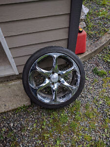 """18"""" Boss 318 Rims with maxxis victra z4s tires (set of 4)"""