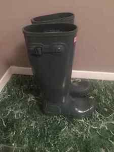 Hunter Boots - Grey Gloss Peterborough Peterborough Area image 2