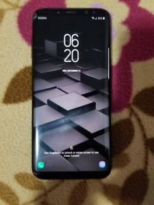 Samsung s8 plus 64gb unlocked with Small Cracked Screen