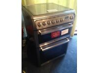 Hotpoint oven dual fuel gas hob electric oven