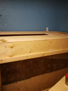 Handmade monitor enclosure 7'x4'x4' wood