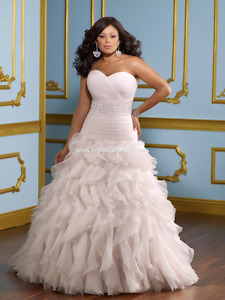 Plus size wedding gown and Sash