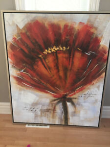 Big Frame with red flower 49x43
