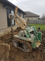 Posthole Drilling, Yard Clearing and Cleanup