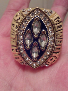 LARGE HEAVY DALLAS COWBOYS IRVIN SUPER BOWL CHAMPIONSHIP RING