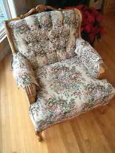 Antique French Provinical Couch and Chair
