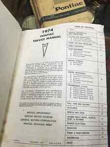 1974 Pontiac Service Manual Regina Regina Area image 2