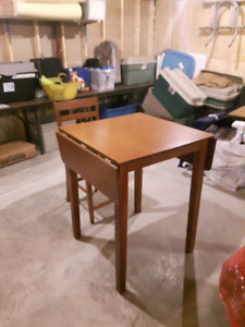 Small solid wood dinette table set