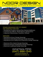 Mechanical HVAC and Electrical Building Permit & Design (P.ENG)
