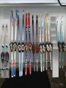 8    cross country skis packages /ski de fond: