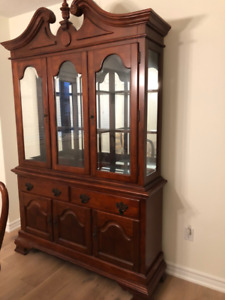 FS: Dining Hutch and Buffet Set (Cherry Color) - Solid Wood
