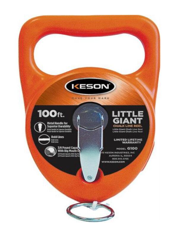 Keson Industries G100 Chalk Line Reel 100Ft