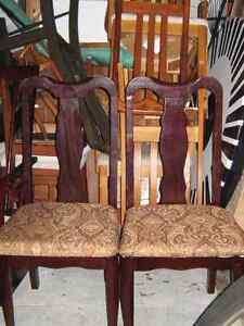 DIFFERENT STYLE CHAIRS ALL WOOD