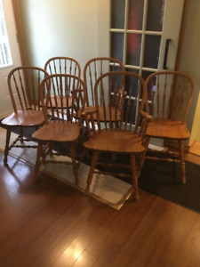 Solid Oak Dinning Chairs