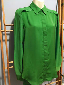 3.1 PHILLIP LIM x TARGET Kelly Green Chiffon BLOUSE Top, Sixe S London Ontario image 4