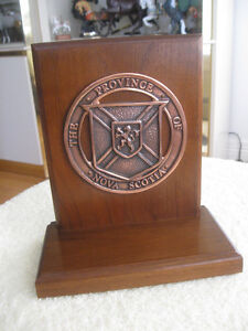 STATELY WOODEN PROVINCE of NOVA SCOTIA COLLECTIBLE
