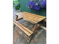 Garden bench picnic table