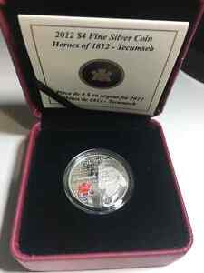 Techumseh - Heroes of 1812 Fine silver coin