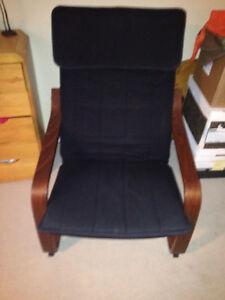 Ikea Poang chair and ottoman