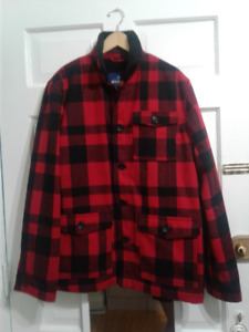 """JACKET-SZ LG-CHECKERED BLK&RED-FLEECE LINING-""""NEW""""-PD$70-ONLY$30"""