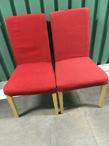 Red Ikea chairs $25.00 OBO