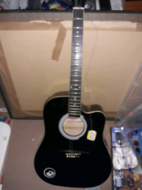 Stagg electric acoustic guitar black