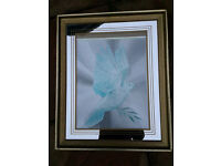 Mirrored framed picture 42x53cm