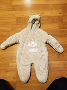 Baby items snow suit, cuddle bag, stroller cover