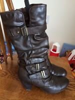 Women's size 7.5 brown fall boots (Spring)