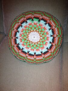 Vintage Crochet Handmade Cushion