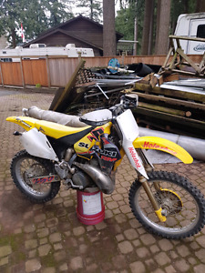96 rm250 2 stroke with hitch carrier