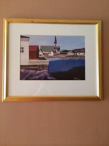 Framed picture of Trinity Newfoundland