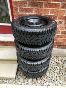 Winter tires 195/65/R15 on 5x114.3 bolt rims