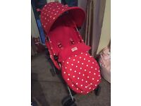 Cath Kidston Maclaren Pushchair Inc Raincover and Cosy toes