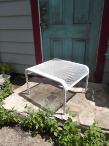 Vintage Mid Century Iron Table or Bench or Ottoman