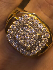 2 carat SI1-G diamond ROLEX gold ring
